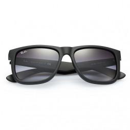 Solbriller Justin Rubber Black