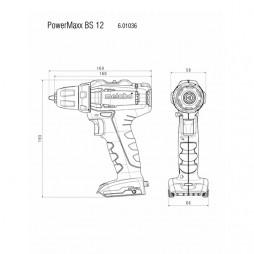 Akku-bore-/skruemaskine Powermaxx BS 12