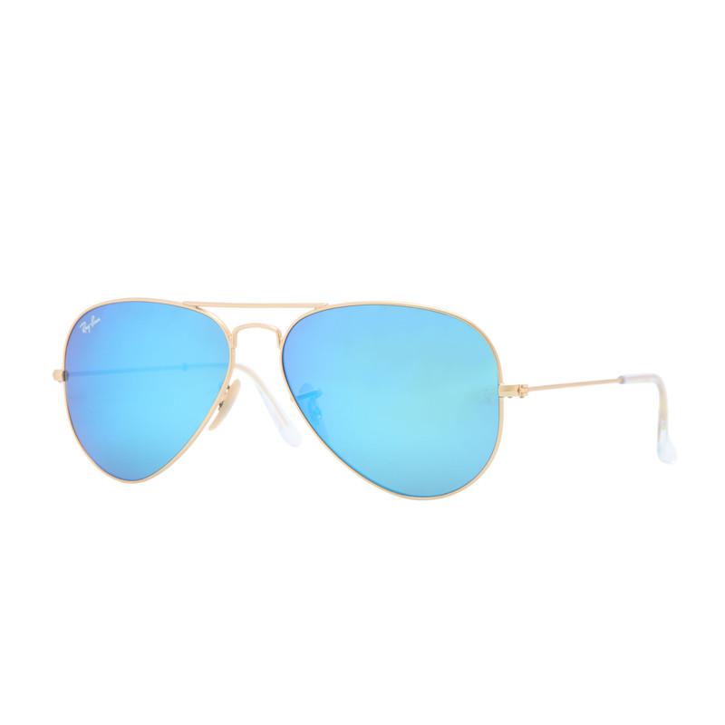 Solbriller Aviator Classic, Blå Flash