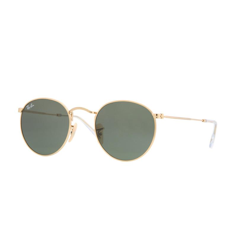 Solbriller Round Metal Guld