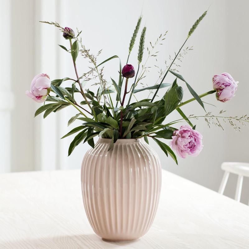 Hammershøi vase 20 cm rosa