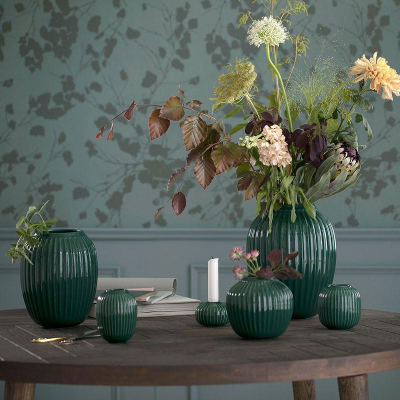 Hammershøi vase 20 cm grøn