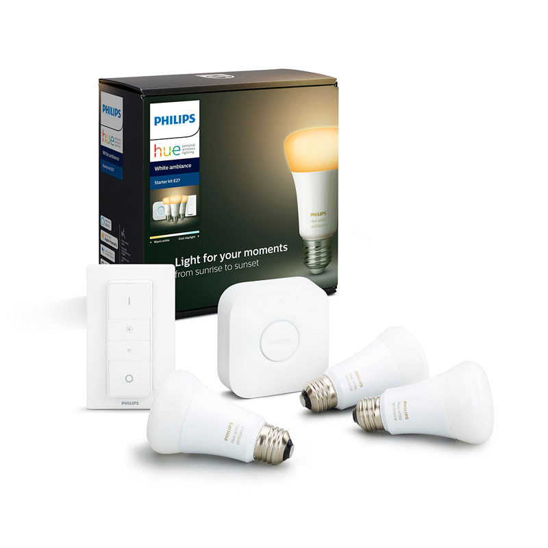 Philips HueWA 8.5W A60 E27 3set sw EUR
