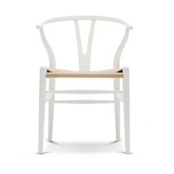 Wishbone Chair white beech with natural papercord seat