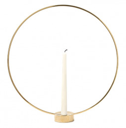Gloria candleholder brass