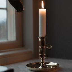 Office Candlestick Brass