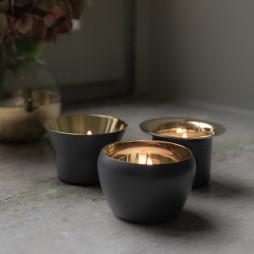 Kin Candleholder Black set of 3