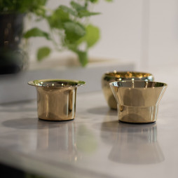 Kin Candleholder Brass set of 3