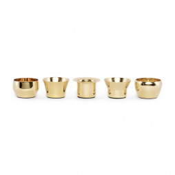 Kin Candleholder Brass set of 5