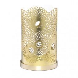 Feather Candleholder 14cm Brass