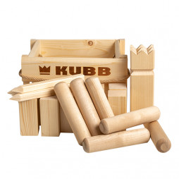 Kubb Game in Wooden Box