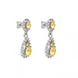 Sofia Crystal Citrine Earrings