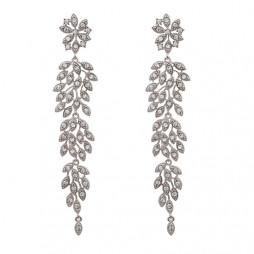 Laurel Earrings Crystal