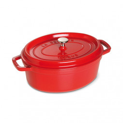 Oval Cast Iron Cocotte 29 cm Red