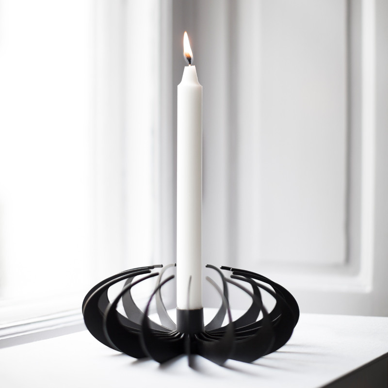 Shadow Candleholder Black