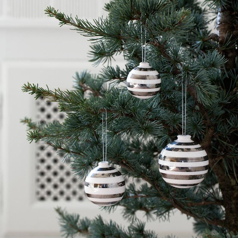 Omaggio Silver Ornaments 3-p