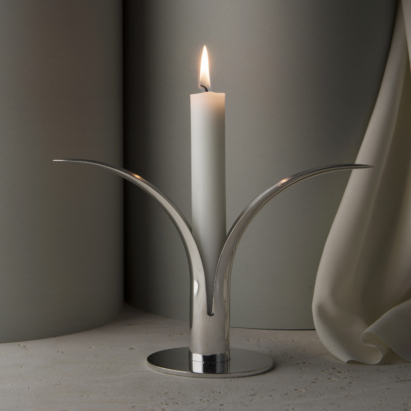 The Lily Candlestick silver