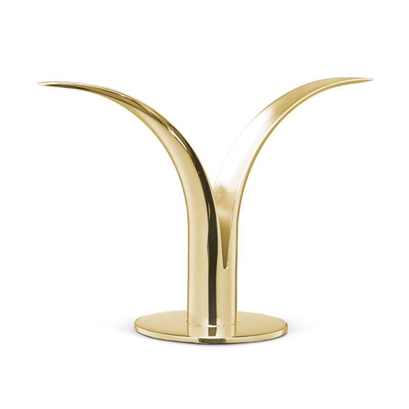 The Lily Candlestick Brass