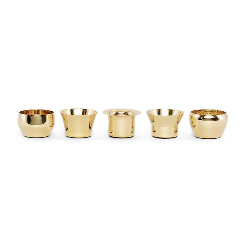 Kin Candleholder Brass set of 5