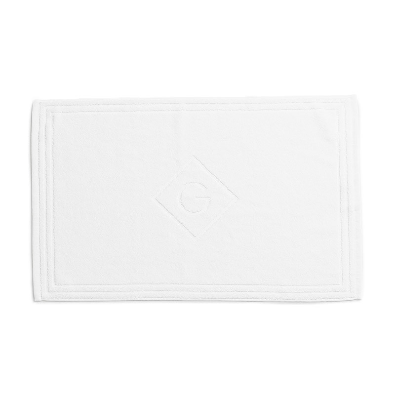 Organic Cotton G Shower Mat white