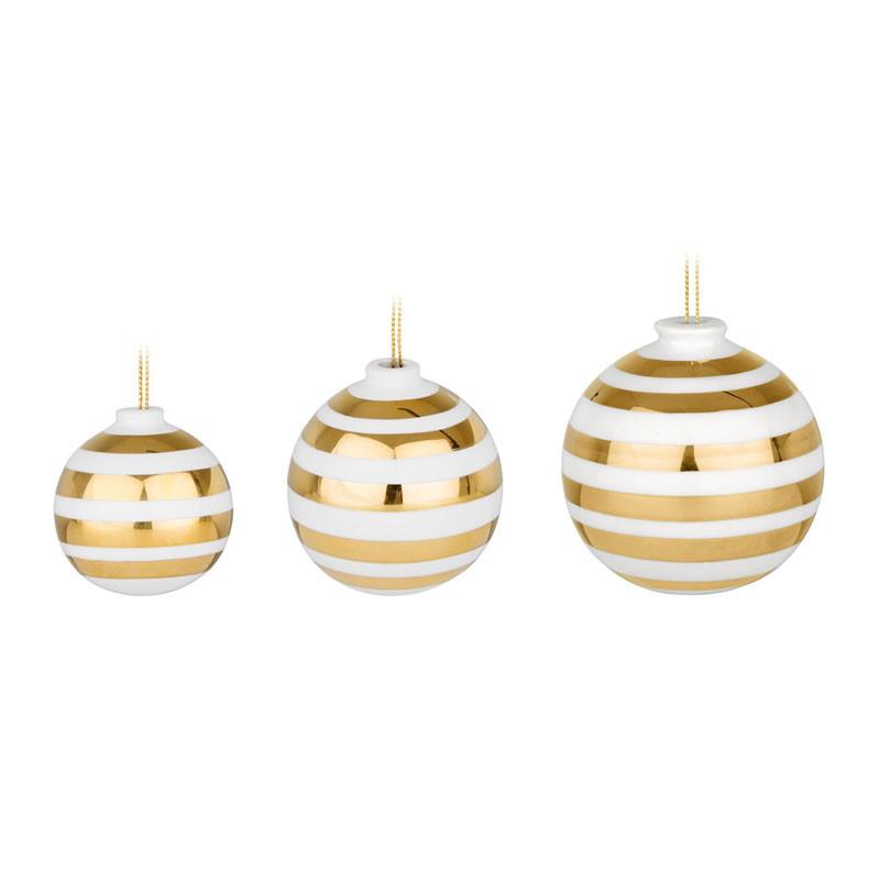 Omaggio Silver Ornaments 3-p gold