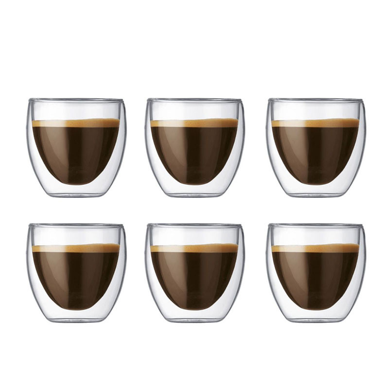 Pavina Double Wall Espresso Glasses, 6 pcs