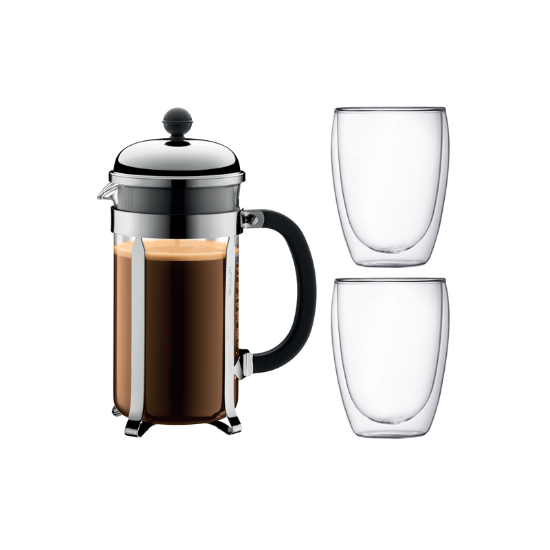 Chambord French Press Coffe Brewer Set, 2 Cups