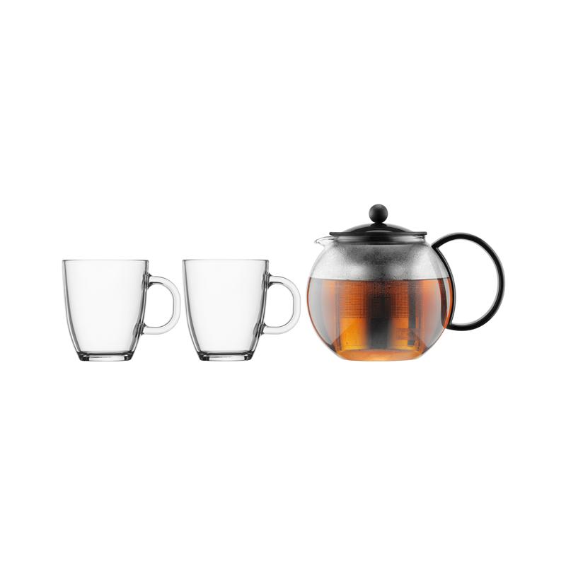 Assam Teapot Set, 2 Cups