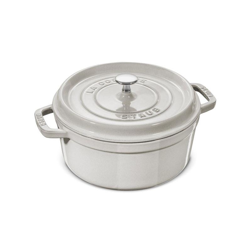 Round Cast Iron Cocotte 24 cm White Truffle