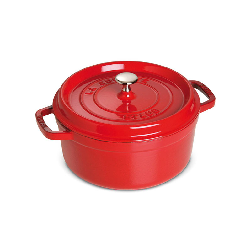 Round Cast Iron Cocotte 24 cm Red