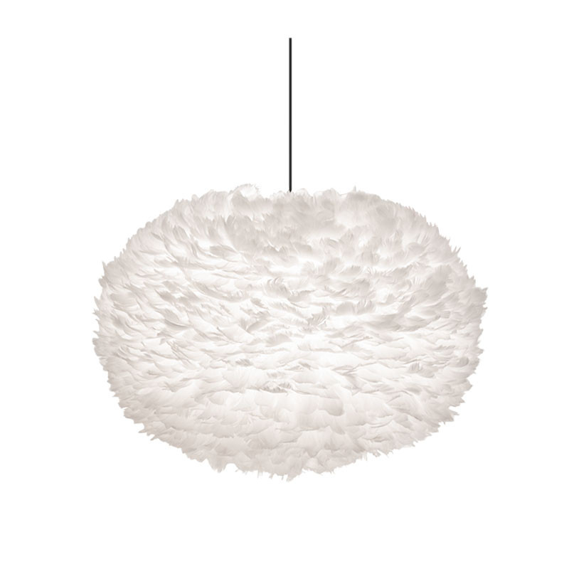 Eos fjäderlampa skärm vit XL