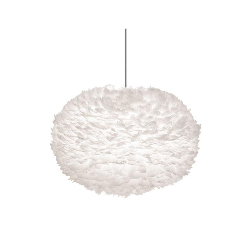 Eos fjäderlampa skärm vit L