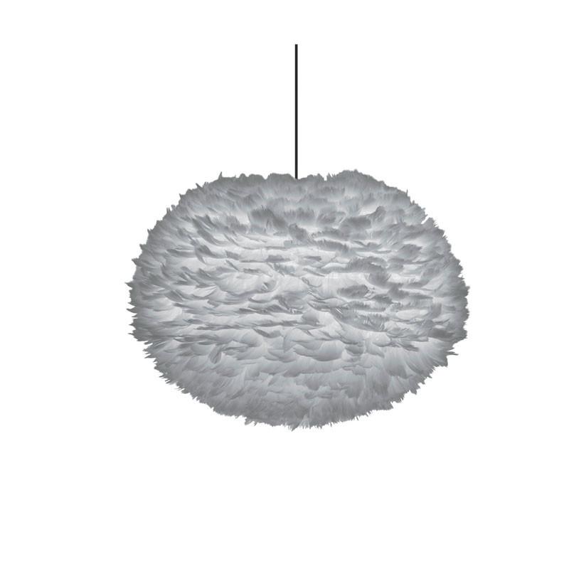 Eos fjäderlampa skärm ljusgrå L
