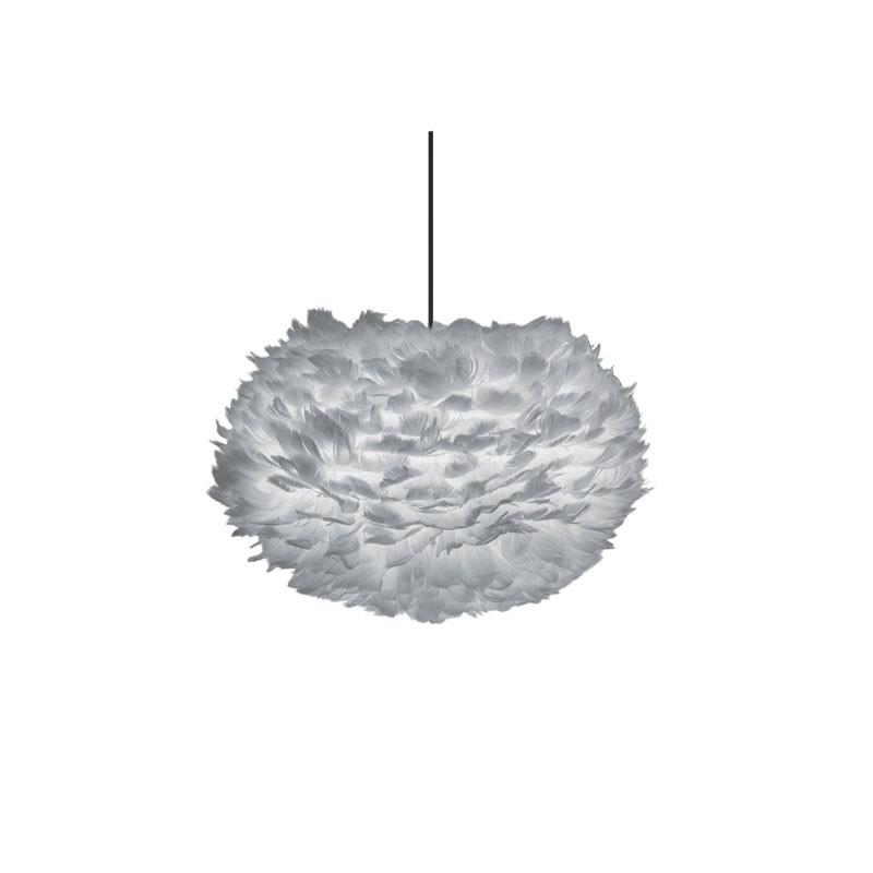 Eos fjäderlampa skärm ljusgrå M