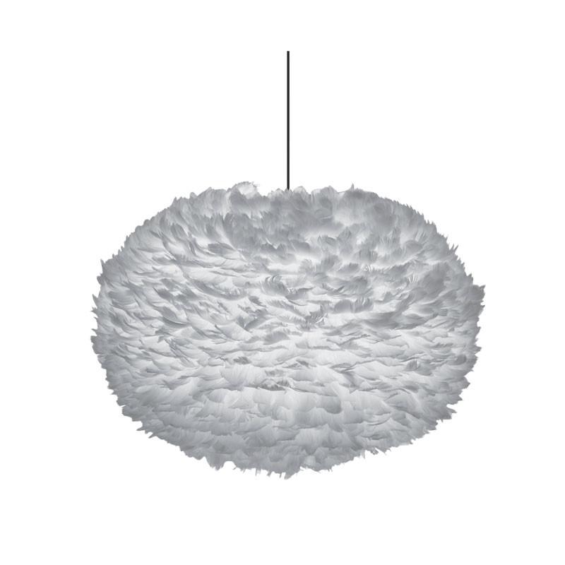 Eos fjäderlampa ljusgrå XL
