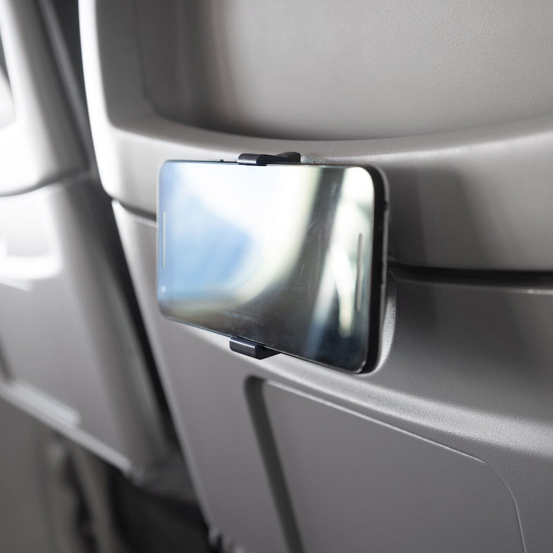 Smartphone holder for airplanes