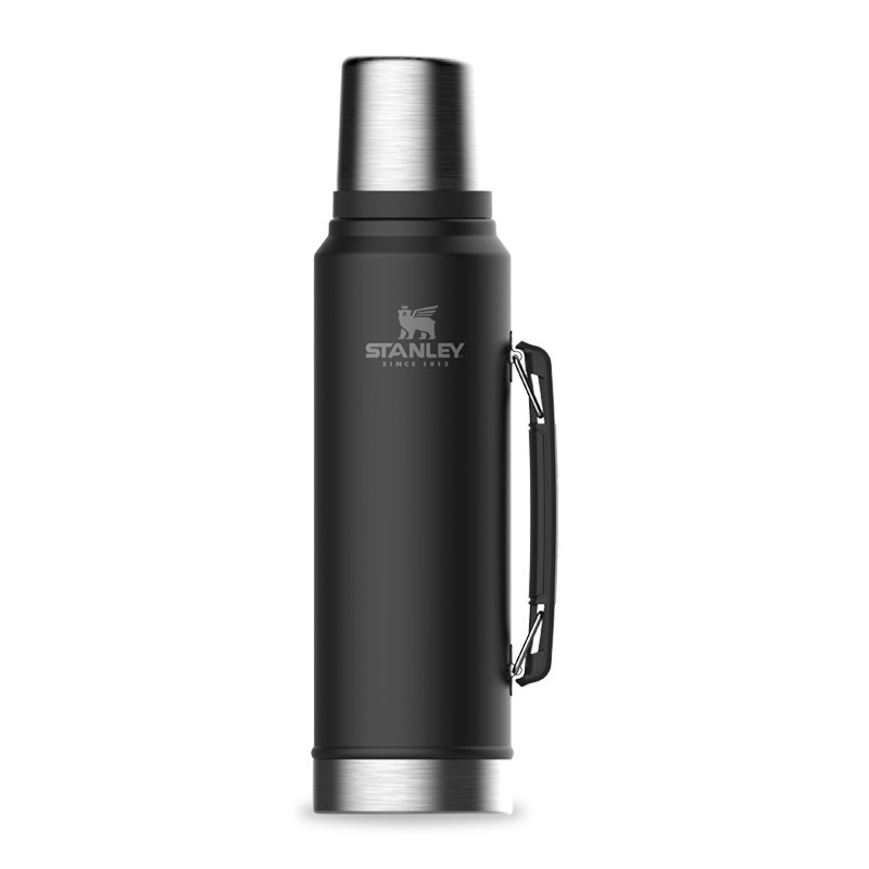 Klassisk termos 1 liter svart