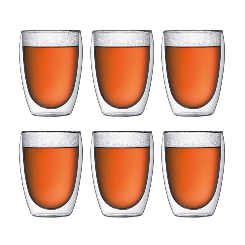 Pavina dubbelväggade glas 6 st