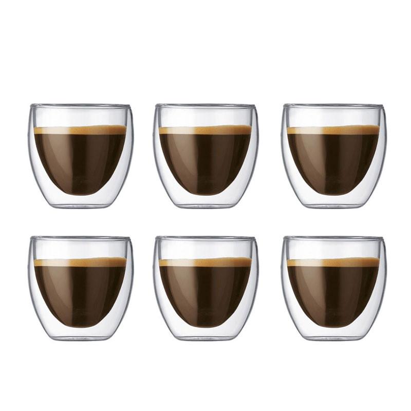 Pavina espressoglas 6-pack