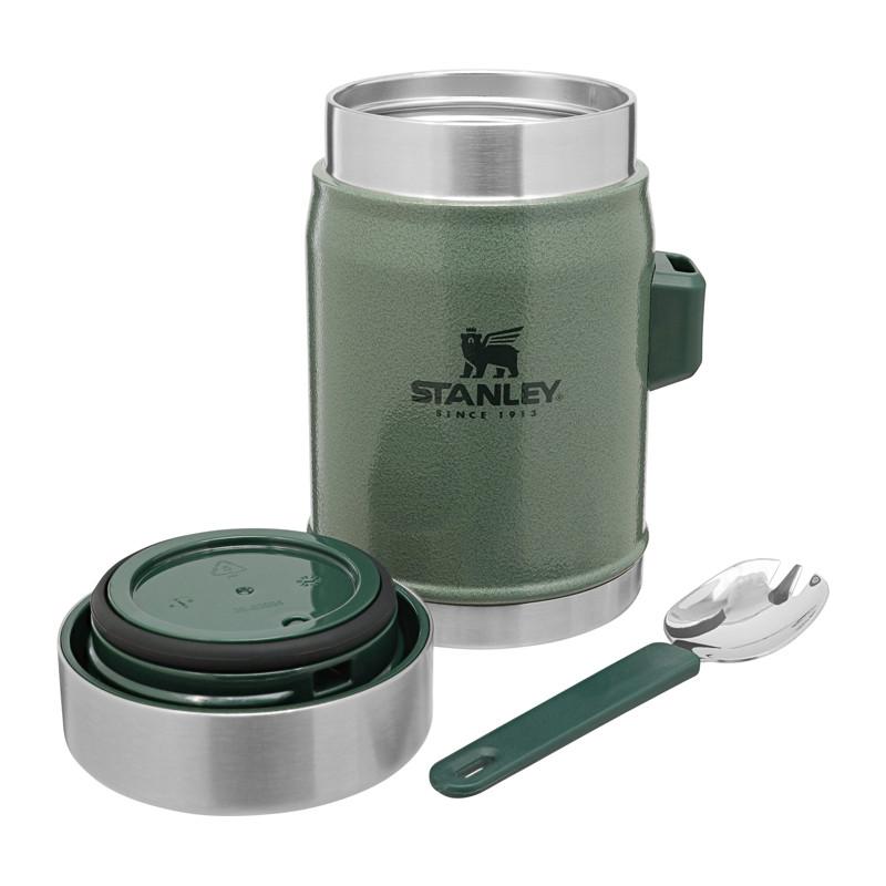 Food Jar 0,4 liter med sked, grön
