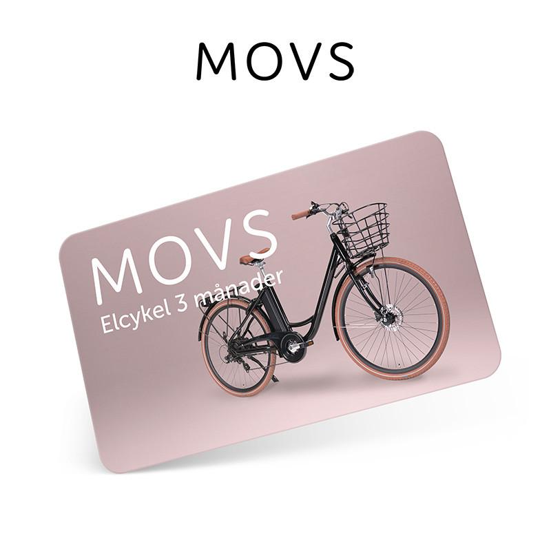 Presentkort MOVS Elcykel 3 månader