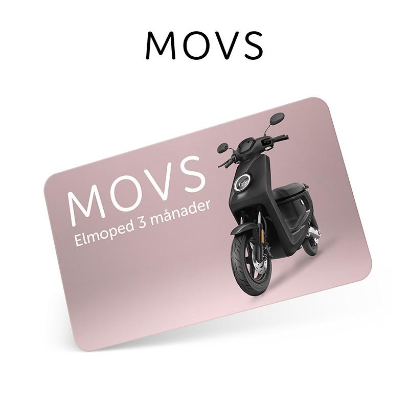 Presentkort MOVS Elmoped 3 månader