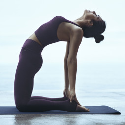 Yogamatte svart