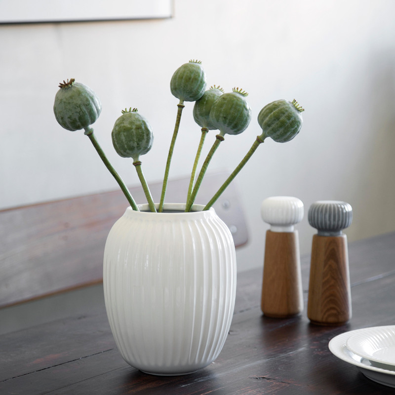 Hammershøi vase 20 cm white