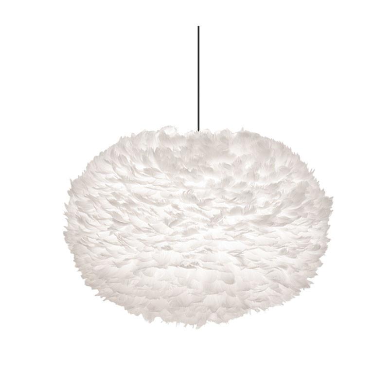 Eos fjærlampe hvit XL