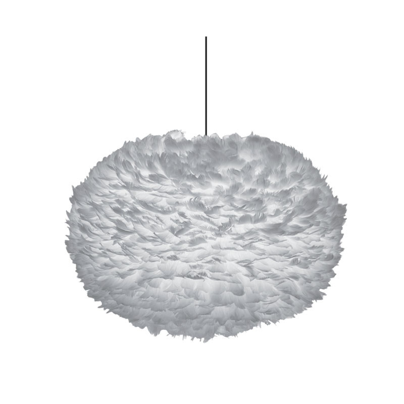 Eos fjærlampe grå XL