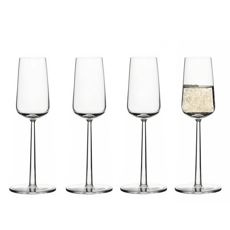 Essence champagneglass 4-pakk