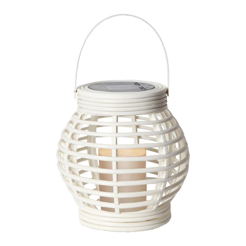 Rotang LED-lykt hvit
