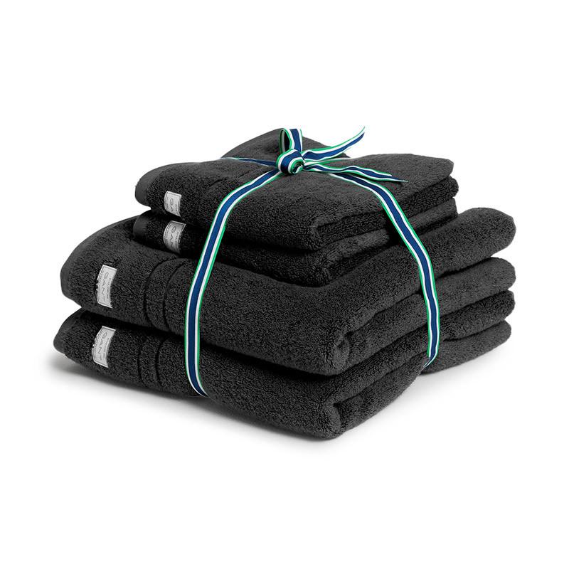 Organic Premium håndklepakke 4 stk antracite