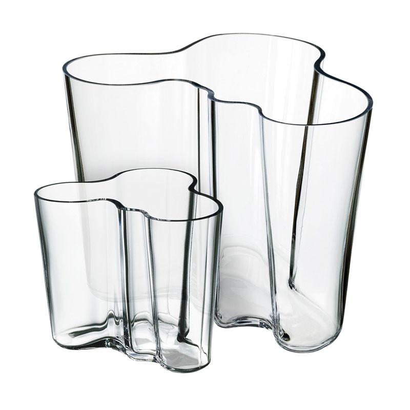 Alvar Aalto duo vase 95+160 mm klar